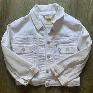 Levi's White Cropped Jacket